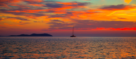 antonio: Ibiza san Antonio Abad de Portmany sunset in Balearic islands of spain