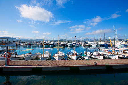 Ibiza San Antonio Abad Sant Antonio de Portmany marina at Balearic islands photo