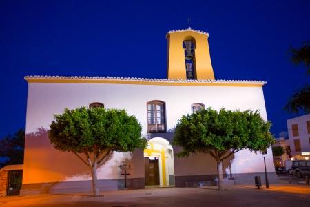 Ibiza Santa Gertrudis de fruitera church Santa Eulalia in Balearic islands