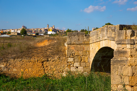 contryside: Requena in Valencia province a wine region of Spain Europe Stock Photo