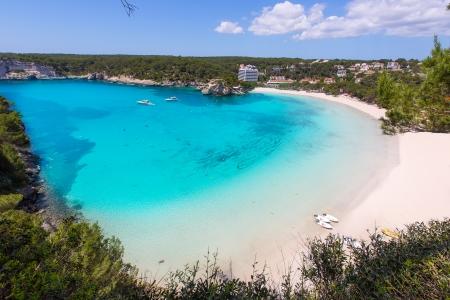 menorca: Menorca Cala Galdana Beach in Ciutadella at Balearic islands