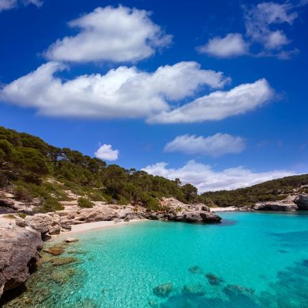 menorca: Cala Mitjana y Mitjaneta in Menorca Ciutadella at Balearic Islands