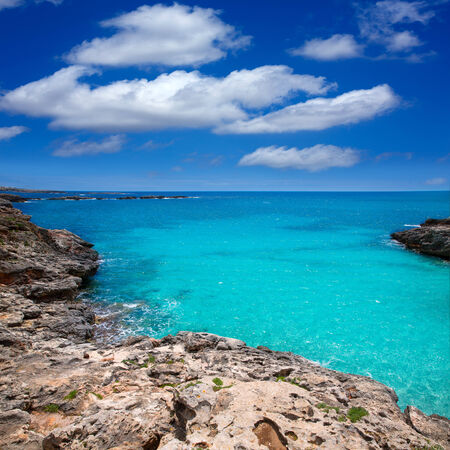 es: Menorca Platja es Calo Blanc in Sant Lluis at Balearic islands of Spain