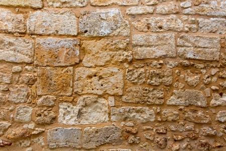 발레 아레스 제도의 메 노르 카 성 벽으로 마름 벽돌 벽 텍스쳐 골동품 스톡 콘텐츠
