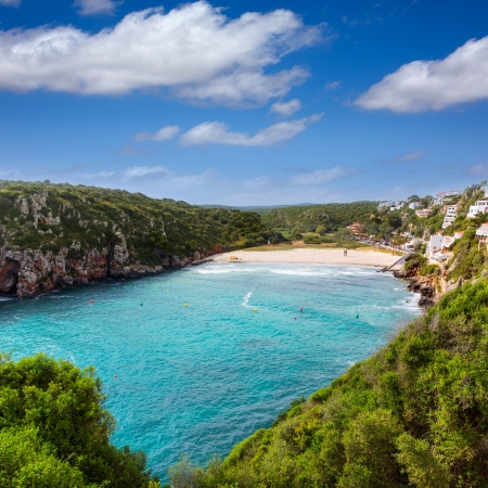 porter: Cala en Porter beautiful beach in menorca at Balearic islands of spain