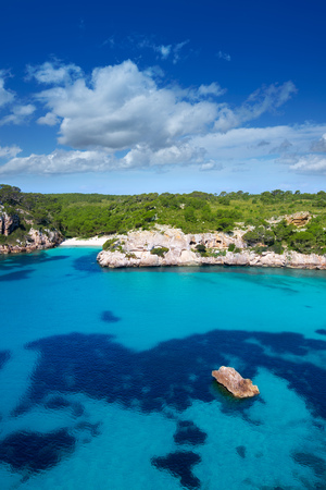 Cala Macarella and Macarelleta Ciutadella in Menorca Mediterranean Balearic islands Imagens - 23744765