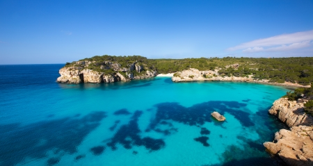 balearic: Cala Macarella and Macarelleta Ciutadella in Menorca Mediterranean Balearic islands