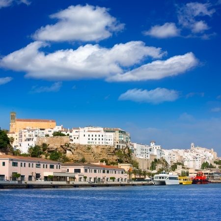 Mao Port of Mahon in Menorca at Balearic islands Spain Stock Photo