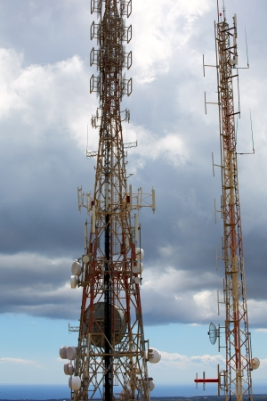 telecommunications tower telephony repeaters in Menorca Pico del Toro photo