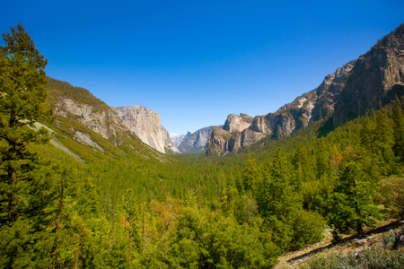 Yosemite el Capitan and Half Dome in California National Parks US photo