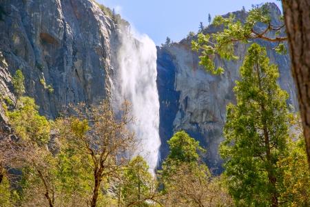 bridalveil fall: Yosemite Bridalveil fall waterfall National Park California