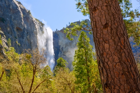 Yosemite Bridalveil fall waterfall National Park California Stock Photo - 23843832