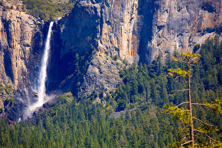 Yosemite Bridalveil fall waterfall National Park California USA photo