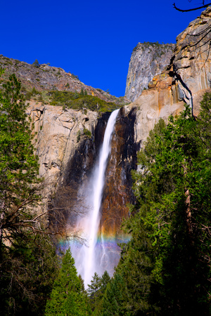 Yosemite Bridalveil fall waterfall National Park California Stock Photo - 23843833
