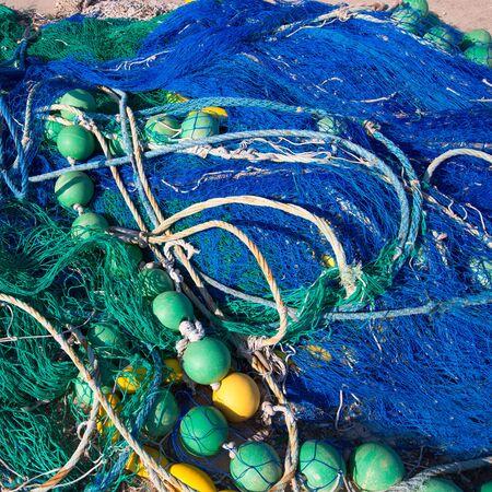 redes de pesca: Pesca Formentera Islas Baleares tackle redes palangrero arrastrero trasmallo Foto de archivo