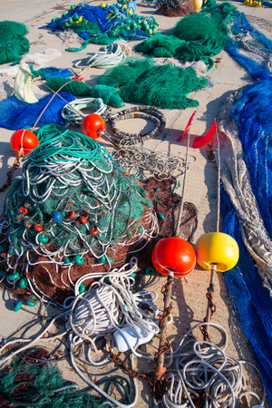 Formentera Balearic Islands fishing tackle nets longliner trawler trammel photo