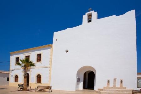sant: Formentera Sant Francesc San Francisco Javier church in Balearic Islands