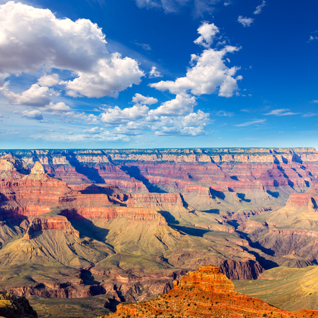 warmth: Arizona Grand Canyon National Park Mother Point in USA Stock Photo