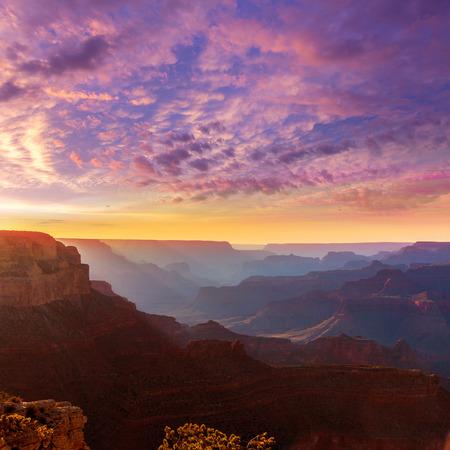 grand canyon national park: Arizona sunset Grand Canyon National Park Yavapai Point USA
