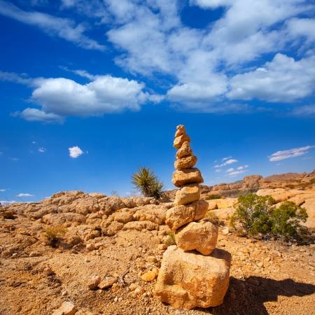 Mountain of rocks in Joshua tree National Park California USA photo