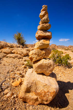 Mountain of rocks in Joshua tree National Park California USA photo