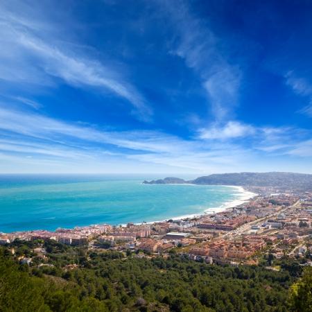 alicante: Javea in Alicante aerial view Valencian Community of spain with Mediterranean sea Stock Photo