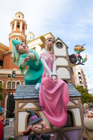 Fallas is a popular fest in Valencia Spain with figures that will be burned in March 19 night