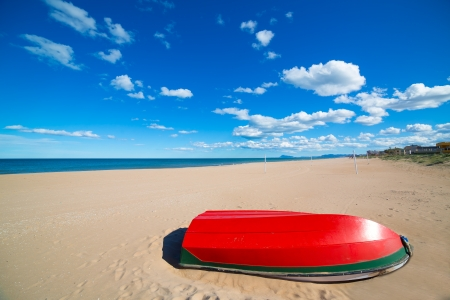 valencian: Mediterranean sand beach in Valencian community of Spain