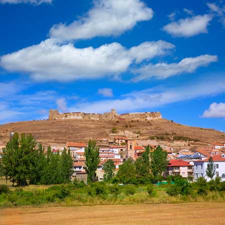 Cedrillas village Teruel skyline famous for the cattle fair in October at Spain photo