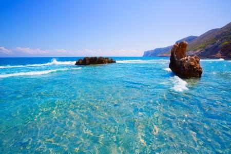 antonio: Denia Alicante Las rotas rocky beach in Spain and San Antonio Cape