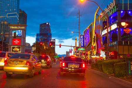 Editorial use only Las Vegas Nevada Strip at night in 2013 spring photo