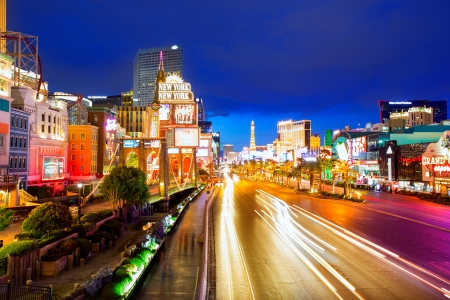 Editorial use only Las Vegas Nevada Strip at night in 2013 spring