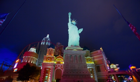 Editorial use only New York Las Vegas Nevada Strip at night in 2013 spring