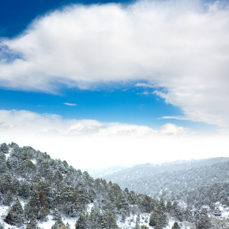 pacific crest trail: Nevada USA spring first snow in the mountains Stock Photo