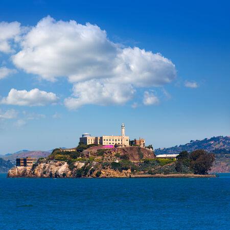penitentiary: Alcatraz island penitentiary in San Francisco Bay California USA view from Pier 39