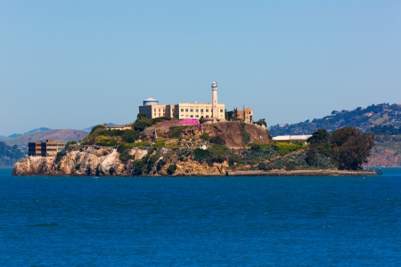 Alcatraz island penitentiary in San Francisco Bay California USA view from Pier 39 photo