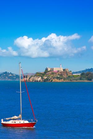 penitentiary: Alcatraz island penitentiary in San Francisco Bay California USA