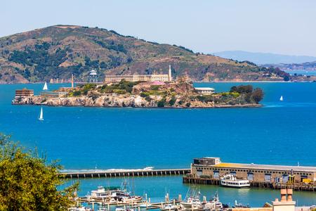ancient prison: San Francisco Alcatraz Penitenciary in California USA