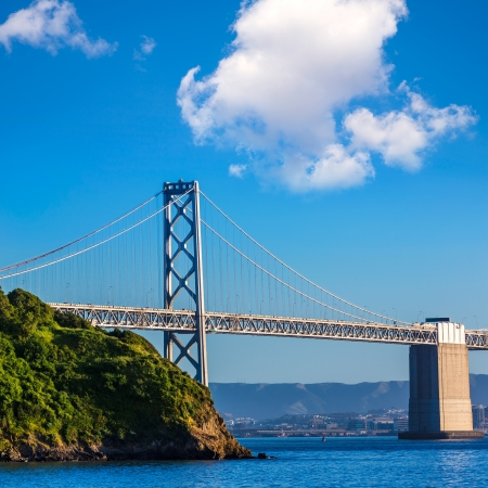 Bay Bridge in San Francisco From Treasure Island California USA photo
