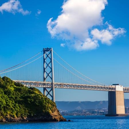 schateiland: Bay Bridge in San Francisco Van Treasure Island California USA Stockfoto