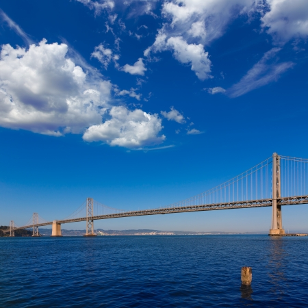 Bay Bridge in San Francisco to Oakland California USA photo