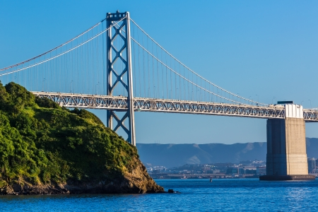 Bay Bridge in San Francisco From Treasure Island California USA Stock Photo - 25138471