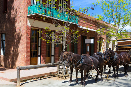 old mining building: California Columbia a real old Western Gold Rush Town in USA