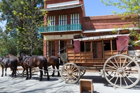 Kalifornien Columbia Wagen in einer echten alten Western-Goldrausch-Stadt in den USA