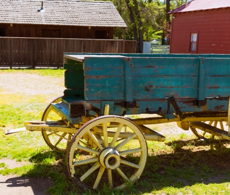 old mining building: California Columbia carriage in a real old Western Gold Rush Town in USA