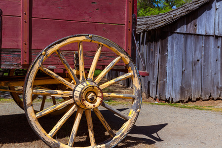 western town: California Columbia carriage in a real old Western Gold Rush Town in USA
