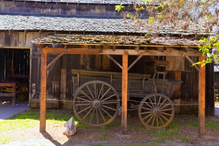 western united states: California Columbia carriage in a real old Western Gold Rush Town in USA
