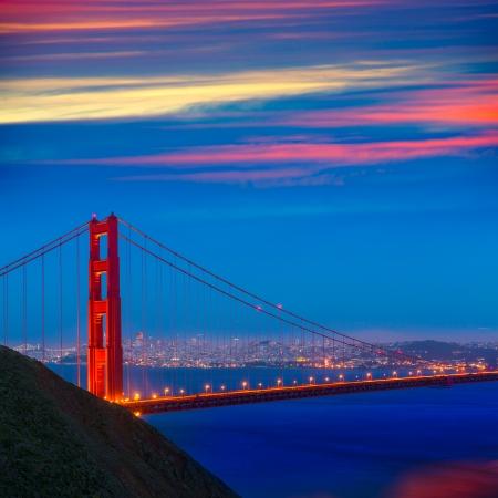 san francisco golden gate bridge: San Francisco Golden Gate Bridge sunset California USA
