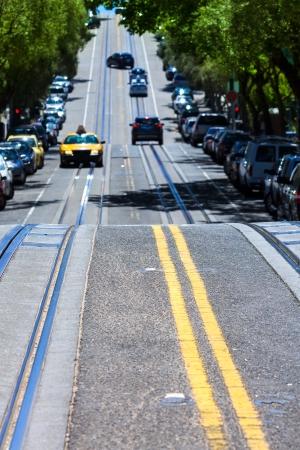 nob hill: San Francisco Hyde Street Nob Hill in California USA