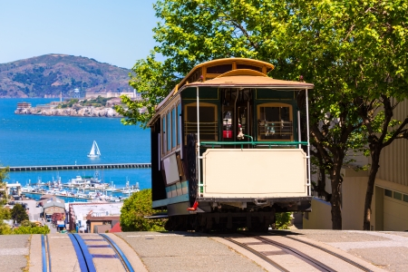 San francisco Hyde Street Cable Car Tram van de Powell-Hyde in California USA
